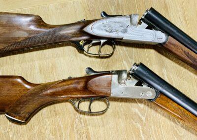 Escopetas paralelas de pletina larga y media pletina